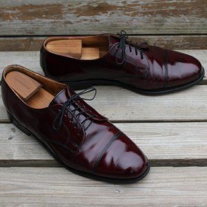 Vtg 90s Cole Haan Cap Toe in Burgundy, Made in USA